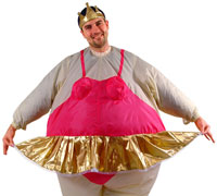 Inflatable Ballerina Adult Costume