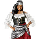 Women's Pirate Wench Plus Costume