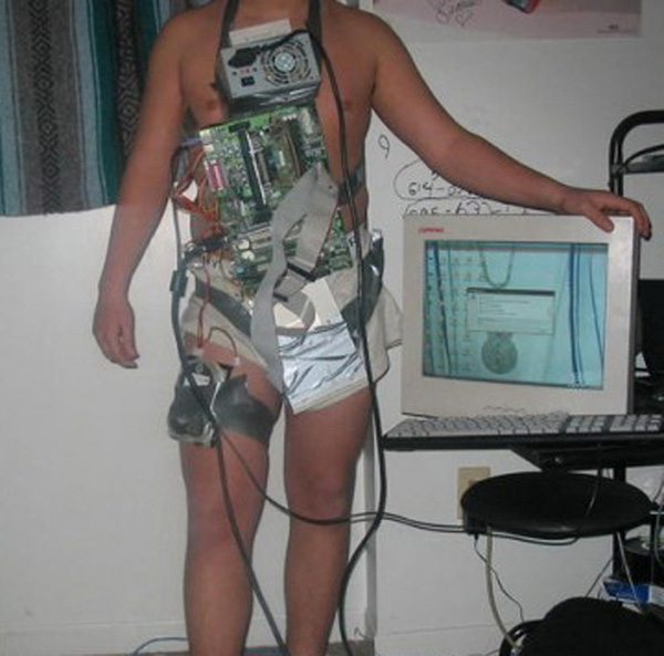 Human-Computer-Tower-Costume
