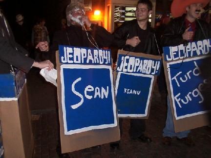 Celebrity jeopardy costume