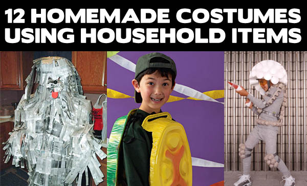 12 Homemade Costumes Using Household Items Costume Pop