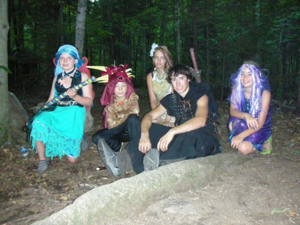 Some summer LARP fun with the kids and players.
