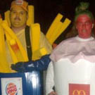 Burger King Fries and McDonalds Shake Costumes