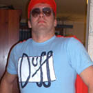 Simpsons Duffman Costume