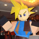 Polygon Cloud Strife Final Fantasy 7 Costume