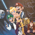 Mario vs Star Wars Mash Up Paintings