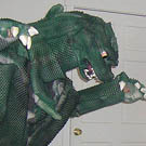 Recycled Green Monster Costume