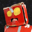 Red Cardboard Robot Costume