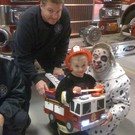 Firefighter with Firetruck
